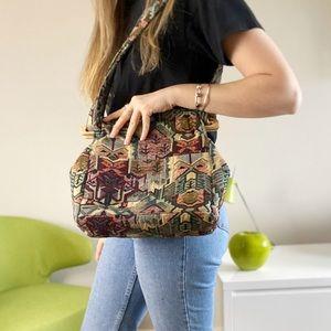 Vintage Grandmas couch shoulder bag purse.